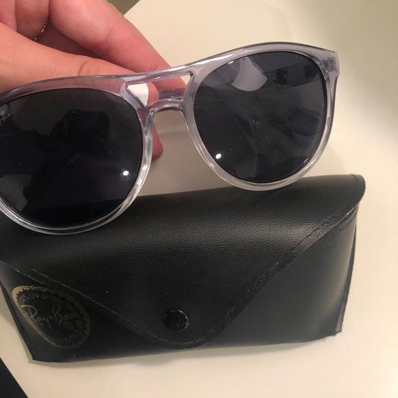 FAKE. raybans but a good pair of sunglasses.